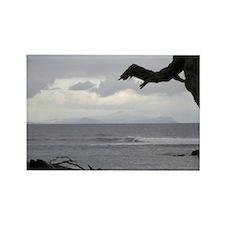 Oahu from Molokai Rectangle Magnet