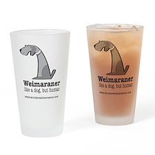 likadogbuthuman Drinking Glass