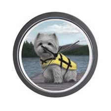 Truman at the Lake Wall Clock