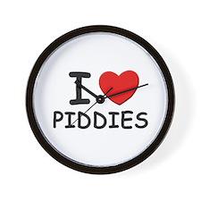 I love piddies Wall Clock