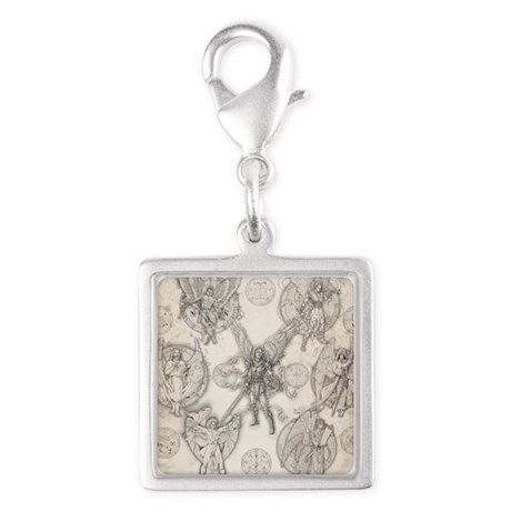 7Angels10x10 Silver Square Charm