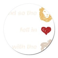 and so the lion on dark Round Car Magnet