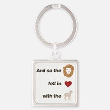 and so the lion Square Keychain