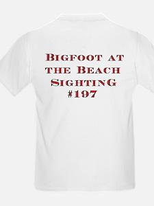 Bigfoot At The Beach Kids T-Shirt