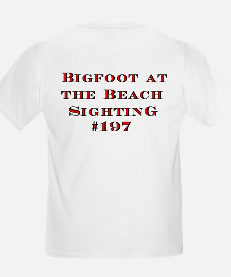 Bigfoot At The Beach Kids T-Shirt