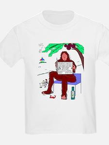 W.S. 'Bigfoot at the Beach' Kids T-Shirt