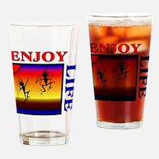 enjoy life Drinking Glass
