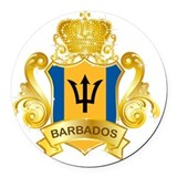 Barbados Round Car Magnets