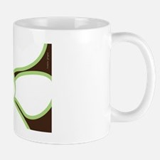 Green flower postcard Mug