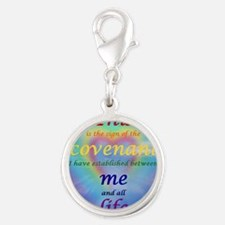 2-covenant Silver Round Charm