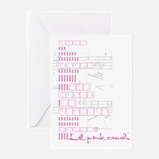 Lil pink crush sound Greeting Card