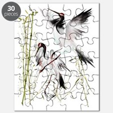Crane In Bamboo Trans Puzzle