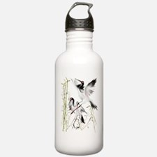Crane In Bamboo Trans Water Bottle