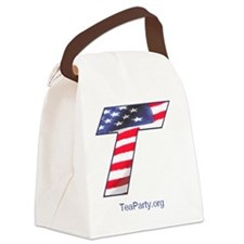 Tea Party Canvas Lunch Bag