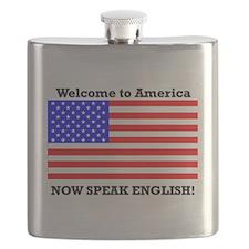 Welcome to America. Speak English Flask