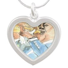 satchmo Silver Heart Necklace