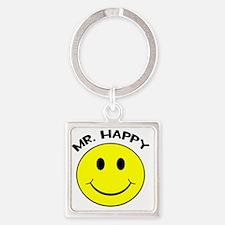 MisterHappy Square Keychain