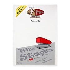 The Stapler Poster Large 5'x7'Area Rug