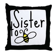 bee_sister Throw Pillow