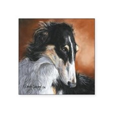 "Borzoi # 2 Square Sticker 3"" x 3"""