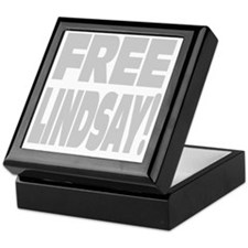 KEEP LINDSEY lt gray Keepsake Box