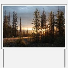 Dalton Highway Sunset Yard Sign