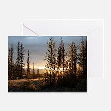 Dalton Highway Sunset Greeting Card