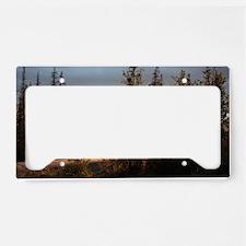 Dalton Highway Sunset License Plate Holder