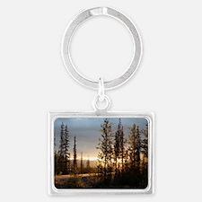 Dalton Highway Sunset Landscape Keychain