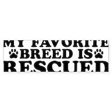 Breed Rescued Bumper Sticker