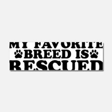 Breed Rescued Car Magnet 10 x 3