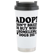 Adopt Homeless Ceramic Travel Mug