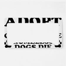Adopt Homeless License Plate Holder