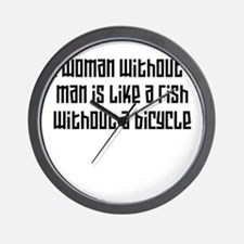 A woman without a man W Wall Clock