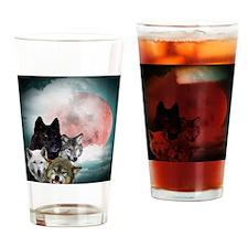 Wolfs Moon Drinking Glass