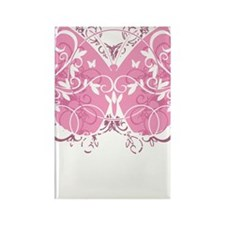 Breast-Cancer-Butterfly-blk Rectangle Magnet