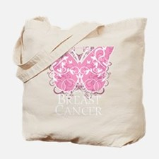 Breast-Cancer-Butterfly-blk Tote Bag