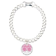 Breast-Cancer-Butterfly- Charm Bracelet, One Charm