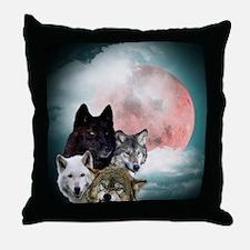 Wolfs Moon Throw Pillow