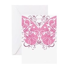 Breast-Cancer-Butterfly-blk Greeting Card