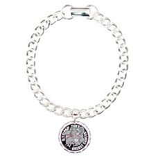 Stomp-Out-Breast-Cancer- Charm Bracelet, One Charm
