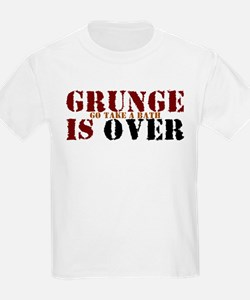 Grunge Is Over Go Take A Bath Kids T-Shirt