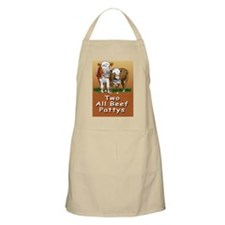 TWO ALL BEEF PATTYS greeting cards Apron