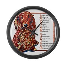 Long Dachs Large Wall Clock