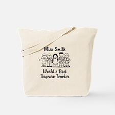 Custom Daycare Teacher Tote Bag