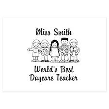 Custom Daycare Teacher Invitations