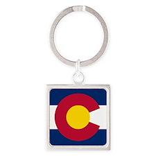 Colorado Flag Square Keychain