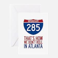 Traffic Sucks on 285 in Atlanta Georgia Greeting C