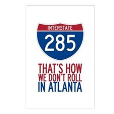 Traffic Sucks on 285 in Atlanta Georgia Postcards