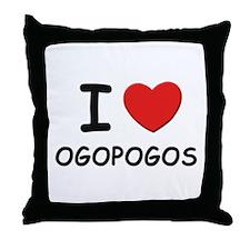 I love ogopogos Throw Pillow